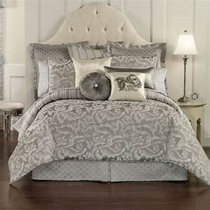 Waterford, Tramore, Queen, Comforter, And, Shams, Set, Platinum
