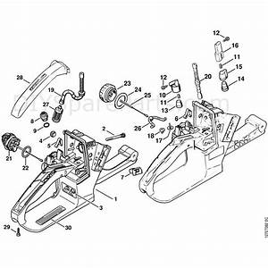 Stihl 024 S Chainsaw  024  Parts Diagram  Tank