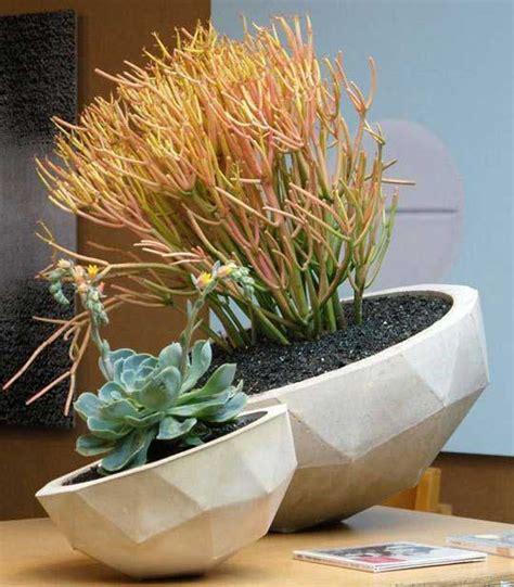 Pflanzen Kübel Beton by Blumenvasen Und Pflanzenk 252 Bel Aus Beton