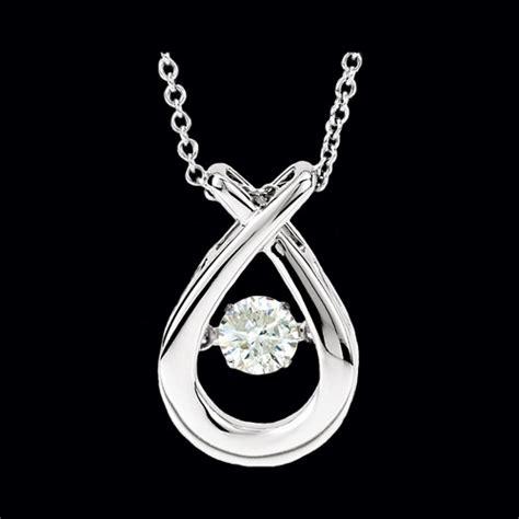 pass design teardrop diamond motion necklace