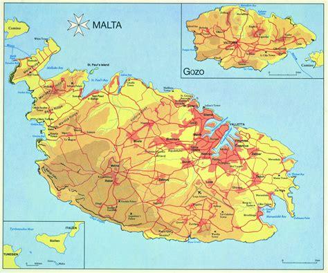 large malta island maps     print high