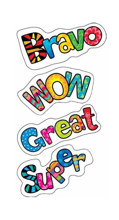 Stickers Words Positive Reward Teacher Poppin Praise
