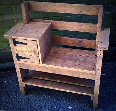 Pallett Bench by Pallet Bench With Storage And Shoe Rack Easy Pallet Ideas