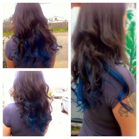 Black Hair With Brown Tips by Best 25 Blue Brown Hair Ideas On Teal Ombre