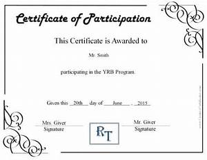 Certificate Of Participation Template Free Free Certificate Of Participation Customize Online Print
