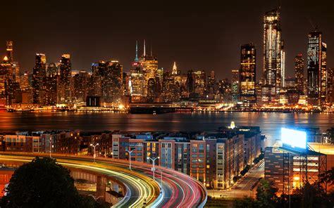 Wallpaper Cityscape, New Jersey, New York City, Night ...