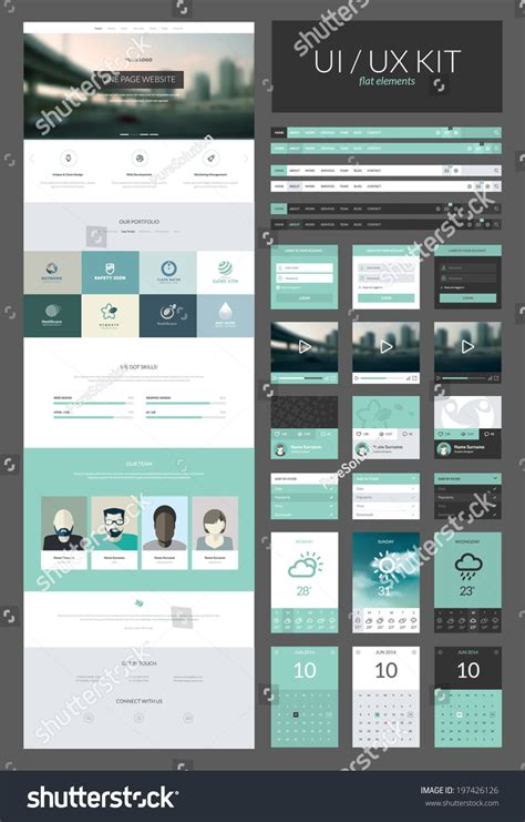 one page website design template all stock vector 197426126