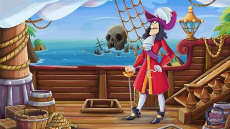 ship  captain hook cartoon peter pan disney wallpaper hd