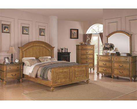 coaster bedroom furniture coaster emily bedroom set in light oak co 202571set