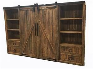 bradley39s furniture etc rustic tv stands With barnwood door entertainment center