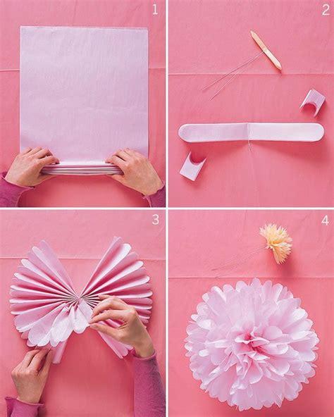 tutorial fiori di carta velina come realizzare pon pon di carta velina foto pourfemme