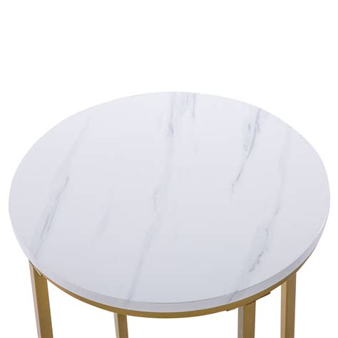 House of hampton gorlest flower coffee table iron genuine marble metal in gold white size 16 h x 31 w d wayfair dailymail. Modern White Marble Coffee Table Gold Metal Frame Desk Computer Table Furniture | eBay