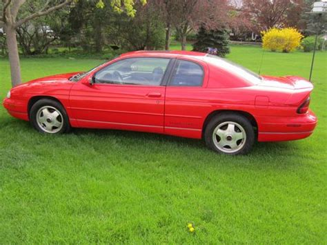 vehicle repair manual 1999 chevrolet monte carlo user handbook purchase used 1999 chevrolet monte carlo z 34 3800 v6 car red in princeton illinois united