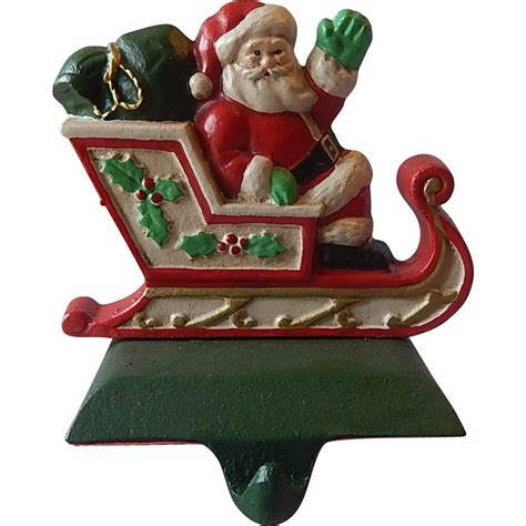 midwest cast iron santa in sleigh christmas stocking