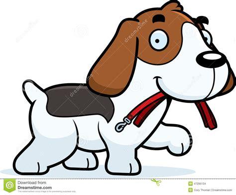 Cartoon Beagle Leash Stock Vector. Image Of Cartoon, Happy