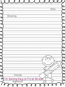 writing paper template 1st grade best photos of With letter writing template for first grade