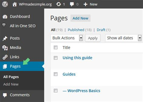 wordpress edit how to edit pages wpmadesimple org