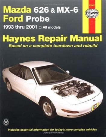 download car manuals pdf free 1992 ford probe instrument cluster mazda 626 mx 6 ford probe 1993 2001 haynes owners service repair manual 1563929805