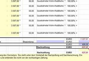 Ista Abrechnung Prüfen : betriebskosten abrechnung mit excel download ~ Themetempest.com Abrechnung