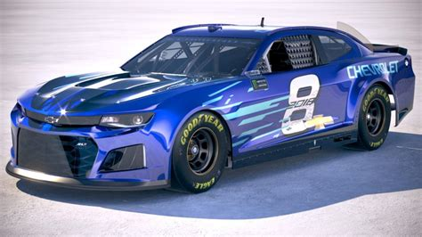 Nascar Chevrolet Camaro 2018 3d Model Cgstudio