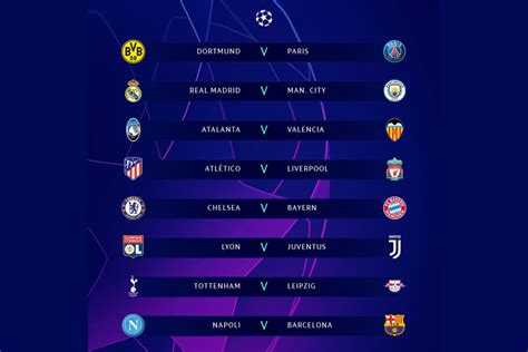 Champions League Round Of 16 : Champions League 2020 ...
