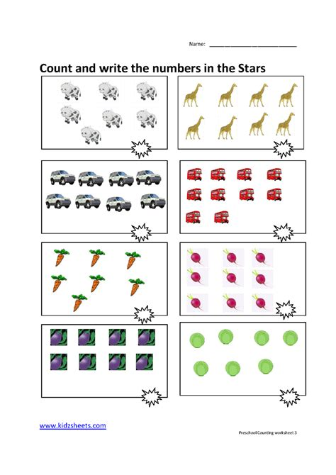 Counting Worksheets Preschool  1000 Images About Kids Stuff On Pinterest Preschool Worksheets