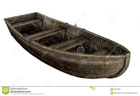 Wood Boat Drawing by Wooden Boat 3d Render Stock Illustration Image