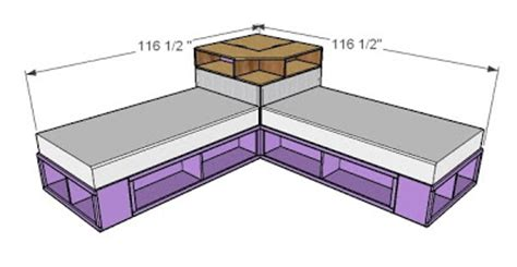 Ana White Platform Bed by Ana White Corner Hutch Plans For The Twin Storage Beds