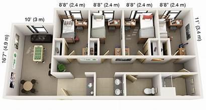 Quad Housing Floor Suite Single Plans Village