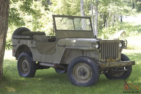 wwii jeep willys 1945 unrestored gpw willys mb jeep wwii mmilitary jeep