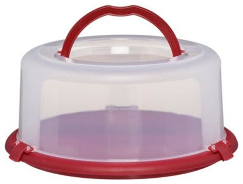 Chefmate Round Cake Carrier  Contemporary  Food Storage