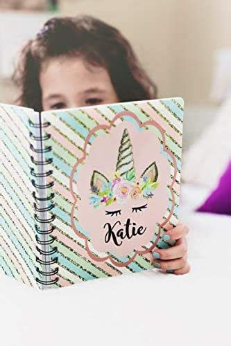 amazoncom personalized notebooks  journals unicorn