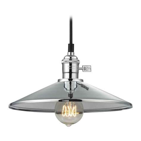 chrome pendant light retro hoyt polished chrome cone shade mini pendant light