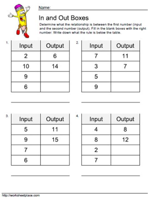 Input Output Worksheet 2  In A Classroom  Pinterest  Worksheets, Math And Number Patterns