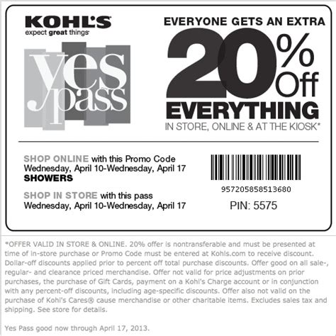 24475 Kohls May Coupons by 30 Best Kohls Coupons Images On Kohls