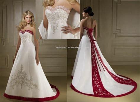 White And Red Wedding Dresses At David's Bridal