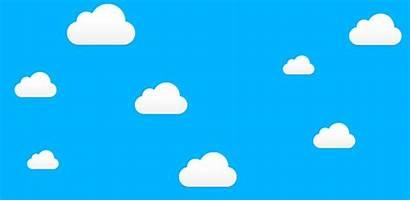 Cartoon Cloud Sky Animated Clipart Clouds Awan