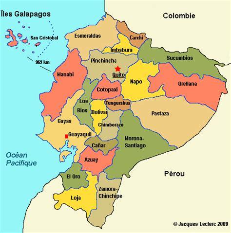 Équateur: cart des provinces