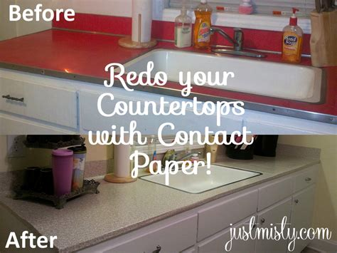Using Contact Paper To Cover And Redo Countertops