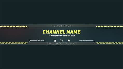 premium youtube banner template photoshop template