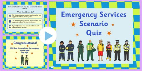 emergency services scenario quiz powerpoint emergency