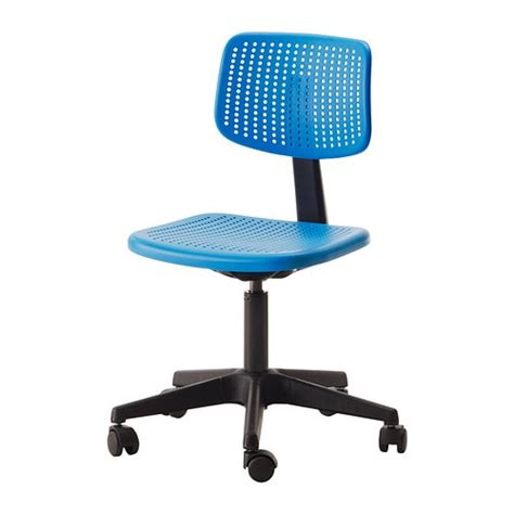 blue desk chair alrik swivel chair blue ikea