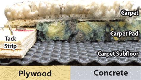carpet laminate subfloor concrete subfloor underlay for carpet wood
