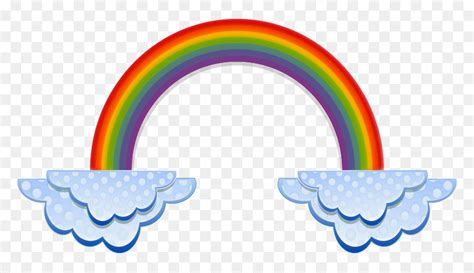 Rainbow Cloud Color Clip Art