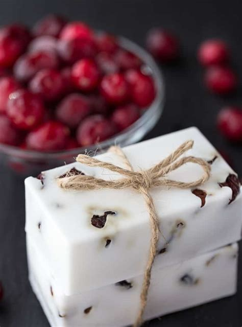 cranberry vanilla shea butter soap simply stacie