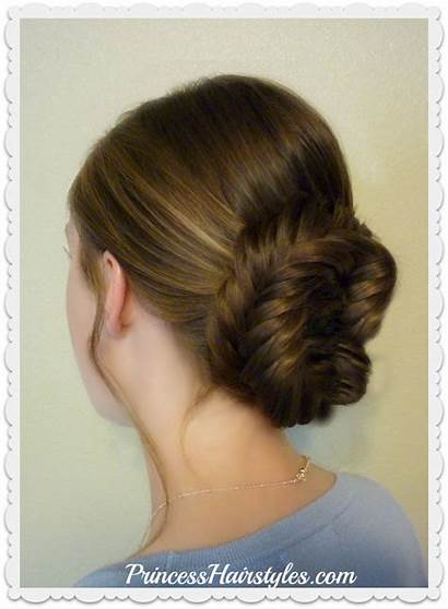 Prom Fishtail Princess Hairstyles Fancy Hair Updo