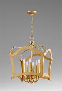 Milan six light pendant gold by cyan design
