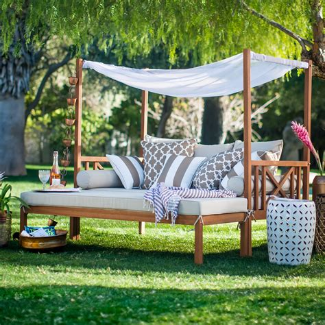 outdoor beds belham living brighton outdoor daybed and ottoman natural outdoor daybeds at hayneedle