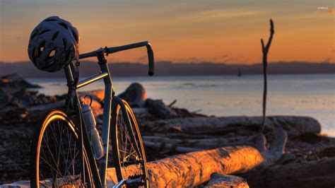 Animated Bikes Wallpapers - bicycle in the sunset wallpaper photography wallpapers