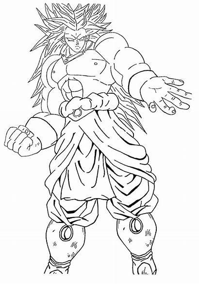 Goku Broly Coloring Pages Dragon Ball Ssj3